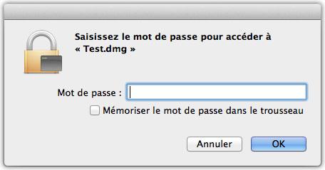 Ouvrir un dossier avec mot de passe