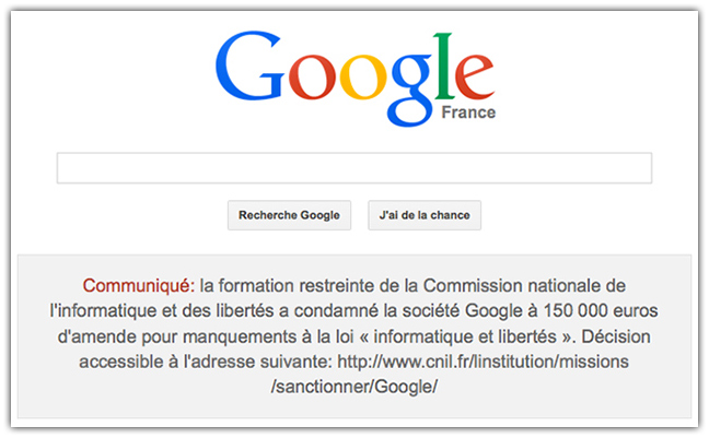 Google épinglé par la CNIL