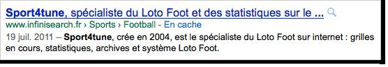 Affichage du titre dans Google