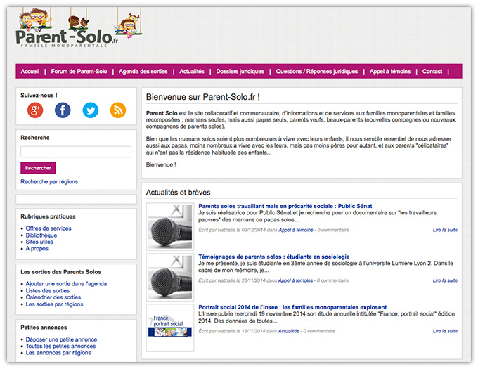 Migration du site Parent-Solo