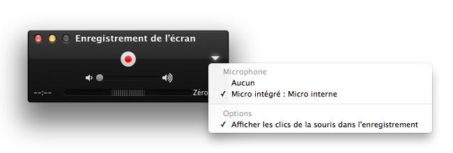 Lancer l'enregistrement vidéo avec QuickTime Player